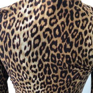 BCBGMaxAzria Tops - BCBGMAXAZRIA leopard long sleeve top size large